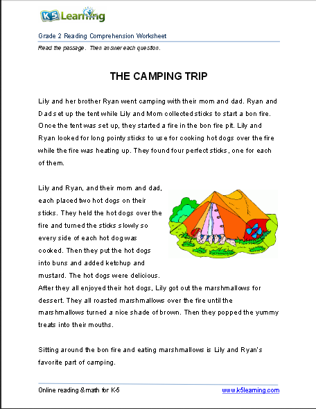 5th grade reading comprehension worksheets online