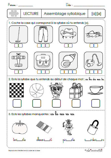 au worksheets